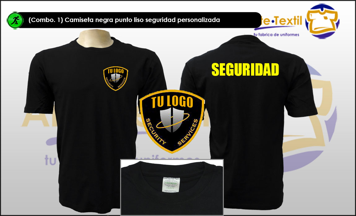 f1d646d3ae Camisetas empresas seguridad personalizadas con estampado y ...