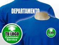 Camisetas para servicio al cliente personalizadas