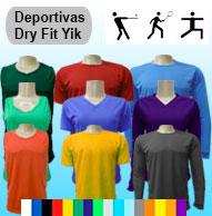 Camisetas tela deportiva dry fit UN TONO EN INVENTARIO