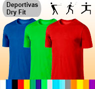 Camisetas tela deportiva dry fit masculino