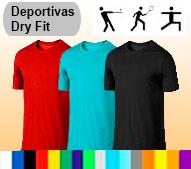 Camisetas tela deportiva dry fit juvenil e infantil