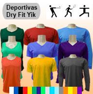 Camisetas tela deportiva dry fit un UN TONO POR PEDIDOS